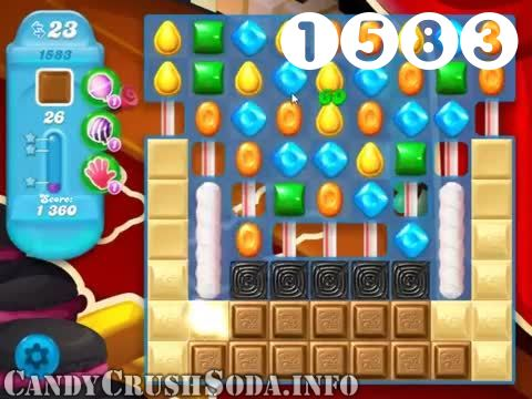 Candy Crush Soda Saga : Level 1583 – Videos, Cheats, Tips